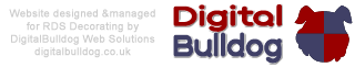 RDS Decorating website, built and managed by DigitalBulldog Web Solutions